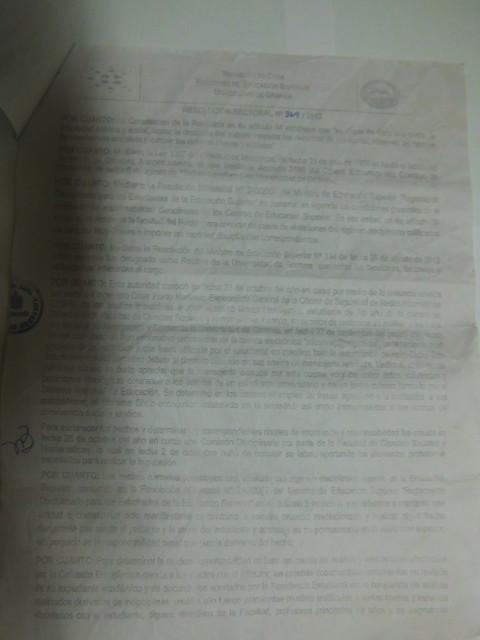 Resolución Ministerio de Educación página 1